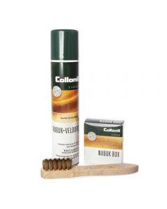 Nubuk & Velours Protector, Premium Brass Brush + Nubuk Box combi