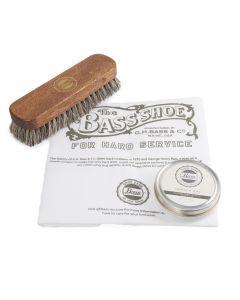 Bass Wax Polish, Polishing Cloth & Buffing Brush Set
