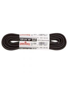 Pedag 90cm Waxed Thick Cord Shoe and Boot Laces-Black
