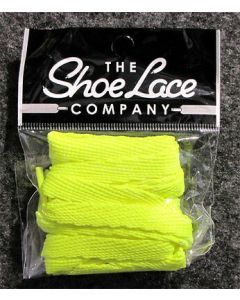 Flat Trainer Laces 10mm wide/130cm SHOES HI TOPS, and BOOTS-Flo Yellow