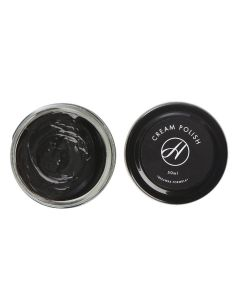 H By Hudson Shoes Cream Polish for boots and shoes-Black