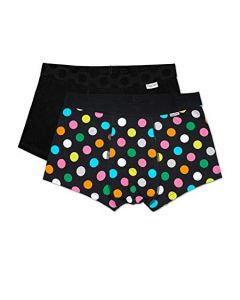 Happy Socks Black Big Dot Trunk 2-Pack - XL
