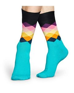 Happy Socks Faded Diamond Sock, Multicoloured