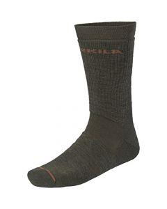 Harkila Pro Hunter 2.0 short socks Willow green/Shadow brown
