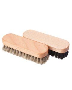 WFS Horse Hair Shoe Brush Shoe Polishing Buffing for Shoes & Boots