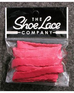 Flat Trainer Laces 10mm wide/130cm SHOES HI TOPS, and BOOTS-Hot Pink