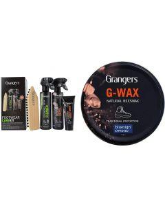 Grangers All-In-One Footwear Care Kit + G Wax