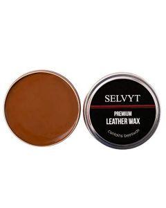 Selvyt Wax Polish- Made with Beeswax- 50ml Tin-Light Brown