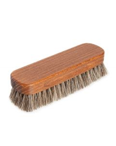 Premium Medium Horsehair Shoe Polishing Buffing Brush for shoes and boots-Natural