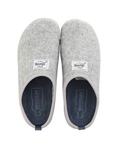 Mercredy Slipper Grey Blue Mens Slippers Shoes in Grey Blue