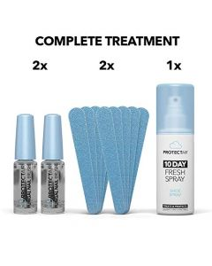 ProtectAir Fungal Nail Treatment - Extra Strong for toenails - 2X 5ml + Nail Files + Medical Shoe Spray
