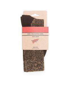 Red Wing Deep Toe Capped Wool Socks Brown