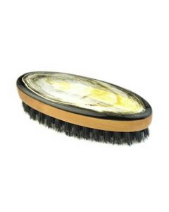 Abbeyhorn Oval Beard Brush with Oxhorn Backing