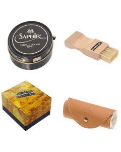 Saphir Kit AE Luxury Shoe Care Gift Box 50 ml Wax with Applicators