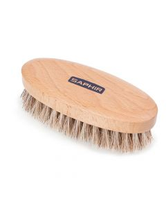 Saphir Oval Buffing Brushes - Natural