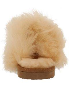 Shepherd of Sweden Evelina Chestnut Suede Fluffy Slipper