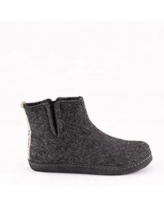 Shepherd Stina Woolen Felted Boot Slippers on a Soft suede sole (5, numeric_5)