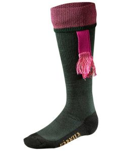 Harkila Sporting Estate Socks Bottle Green/Pink