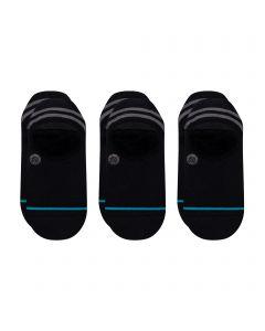 Stance Men's GAMUT 2 3 Pack NO Show Casual Sock, Black, Medium (Pack of 3)