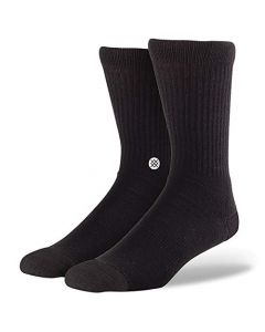 Stance Mens and Ladies Icon Cotton Socks Pack of 3-Black-X Large 12-14.5