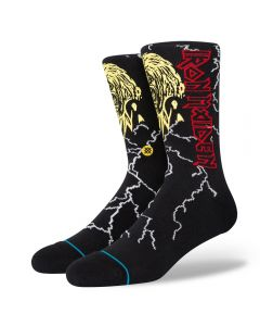 Stance Men's Night City Iron Maiden Socks Infiknit Black Crew Calf