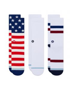 Stance The Americana 3 Pack Mens Fashion Socks Medium Multi