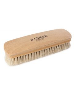 Barker Luxury XL Horsehair Polishing Brush - Black and Natural-Natural
