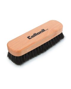 Collonil Beechwood Buffing and Polishing Horse Hair Brush for Shoes and Boots-Black