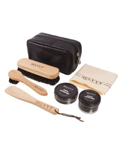 LUXURY SHOE CARE KIT BY SELVYT-Black and Neutral