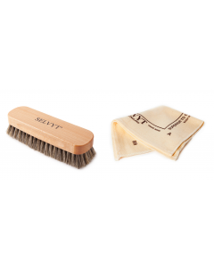 Selvyt Horsehair Neutral Buffing Brush and SR Polishing Cloth-A (25 x 25 cm)