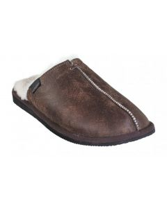 Shepherd Hugo Mens Slippers Oiled Antique