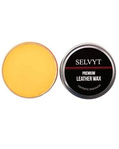 Selvyt Wax Polish- Made with Beeswax- 50ml Tin-Tan Natural